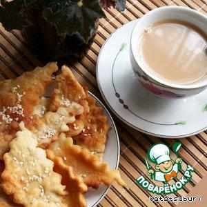 Рецепт Калмыцкий дуэт: солeный чай с лакумами