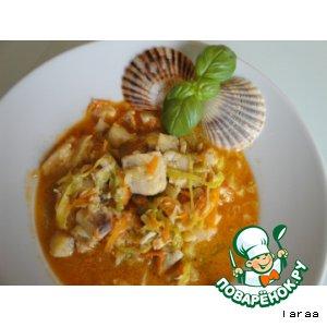 """Рецепт Ароматный рыбный суп """"Bouillabaisse"""""""
