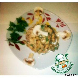 Рецепт Салат с курицей и белой фасолью