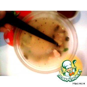 Рецепт Кокосовый суп с лососем и грибами