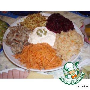 """Рецепт Салат """"Радуга"""""""