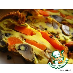 Рецепт Морковно-грибная запеканка