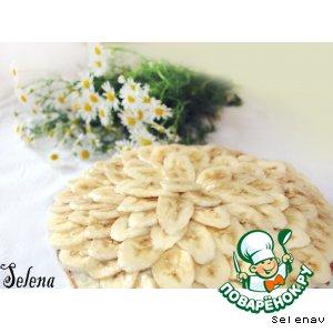 Рецепт Банановый пирог с ванильным пудинговым кремом