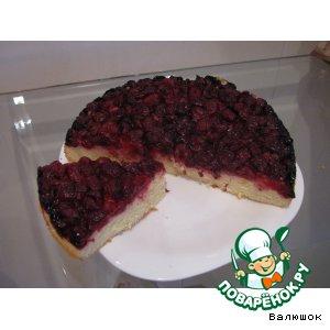 Бисквитный пирог с ягодами