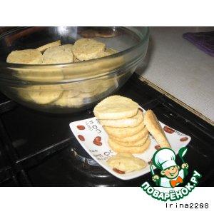 Рецепт Апельсиново-кукрузное печенье с орехами в кокосе