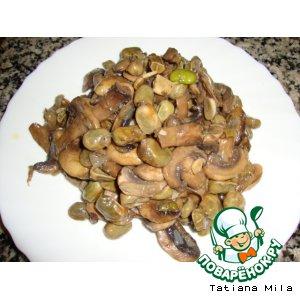 Рецепт Закуска из грибов с бобами