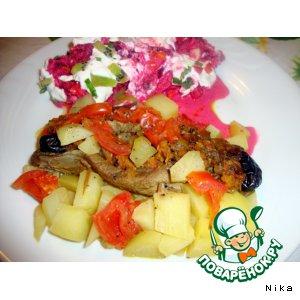 Как готовить Фаршированное   утиное   филе домашний пошаговый рецепт приготовления с фотографиями