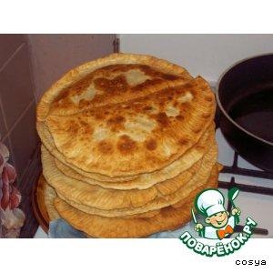 Рецепт Вкусные чебуречки