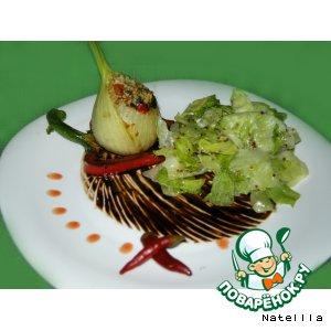 Рецепт Фенхель, фаршированный анчоусами и овощами