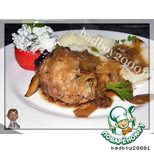 Рецепт Куриные котлеты в грибном соусе