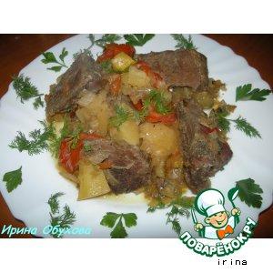Рецепт Рагу из говядины с овощами