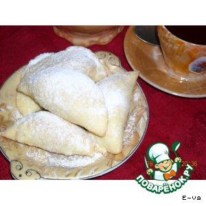 """Рецепт Песочное пирожное """"Багратион"""" с  начинкой из рубленых орехов и безе"""
