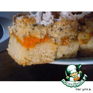 Рецепт Пирог абрикосовый с маком и глазурью