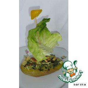"""Рецепт Запечeнный картофель """"Зелeная мечта"""""""