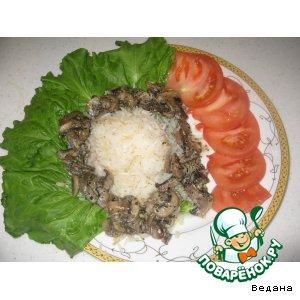 Рецепт Грибы в сливках с рисом по-ливански