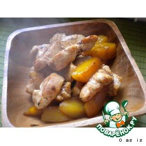Рецепт Фруктовые фантазии на тему куриного филе