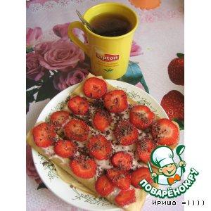 Рецепт Десертные ванильные блинчики с розовым соусом