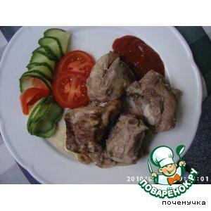 Рецепт Ребрышки свиные, запеченные в духовке
