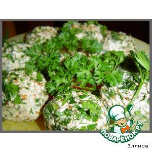 Рецепт Закусочные шарики с красной икрой и горбушей