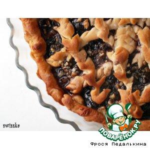 Рецепт Постный пирог с вареньем и орехами