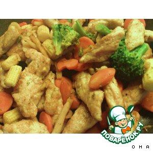 Рецепт Сочное мясо с овощами и картофельными шариками