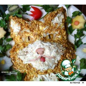 """Рецепт Салат """"Рыжий кот"""""""