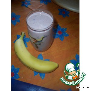 Рецепт Кефирный напиток с фруктами