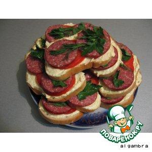 """Рецепт Бутерброды """"Butter-man"""""""