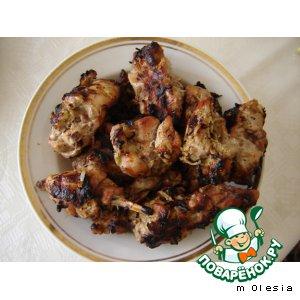 Рецепт Мясо кролика, жаренное на мангале