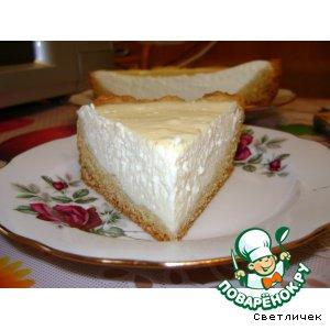 Рецепт Ванильный чизкейк на твороге и пудинге