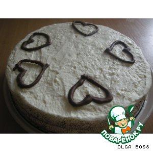 Рецепт Торт на годовщину знакомства с мужем
