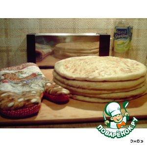 Рецепт Лобиани, хлеб с фасолью