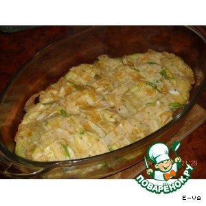 Рецепт Сытная запеканка  с мятным соусом