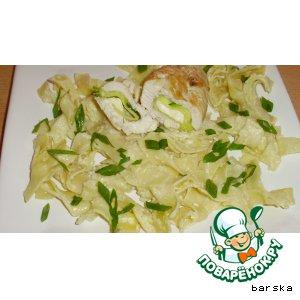 Рецепт Паста: лапша в молочно-пармезанном соусе