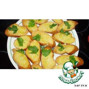 Рецепт Кростини или сухарики чесночные