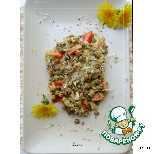 Рецепт Чечевица со сливками и имбирем