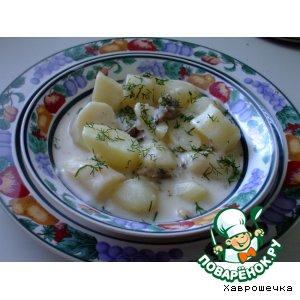 Рецепт Картофель тушеный со сметаной