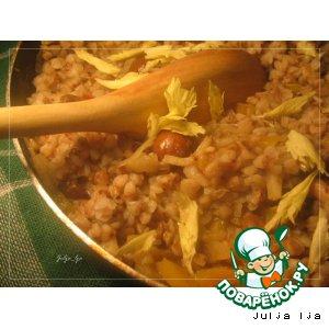 Рецепт Гречка с опятами и сельдереем