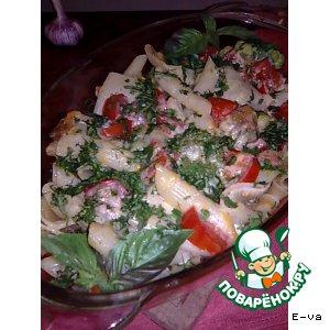 Рецепт Паста с мясом и брокколи, запеченные в сливках