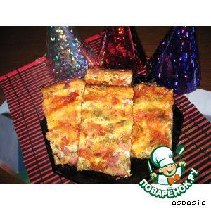 """Рецепт Пицца на кефире """"Наташа"""""""