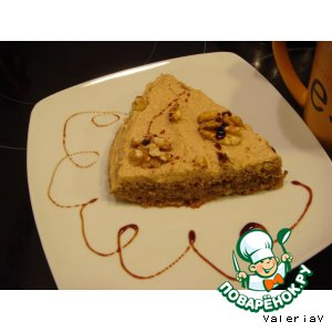 Рецепт Кофейный торт с грецкими орехами