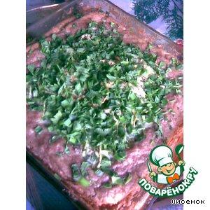 Рецепт Открытый мясной пирог с овощами