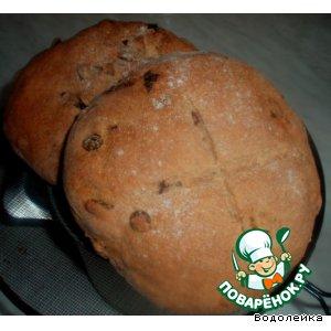Рецепт Пшенично-ржаной хлеб с изюмом для почемучки