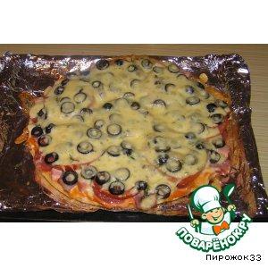Рецепт Колбасная пицца