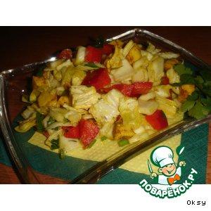 Рецепт Салат из куриного филе с карри