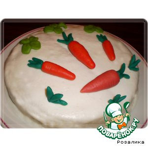 Рецепт Кекс с марципаном, маком и морковью