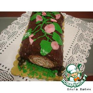 Рулетный торт