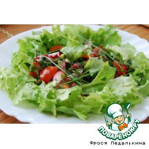 Рецепт Овощной салат с ревенем