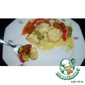 Рецепт Запеканка из овощей и куриного филе