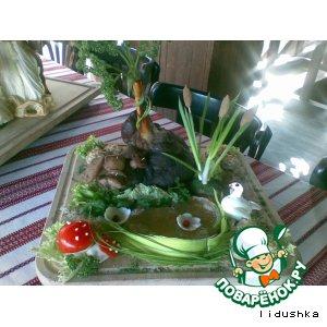 Рецепт Запеченная баранья нога